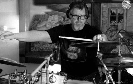 Pat Mastelotto at Prosdocimi Recording